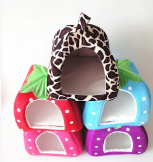 Explosion Kennel Pet Dog House Cat Litter Strawberry