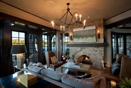 interior english style, Living room in English style