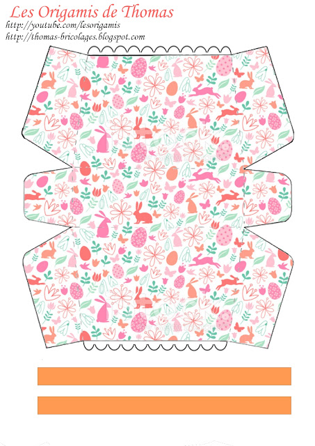 Template panier origami pâques