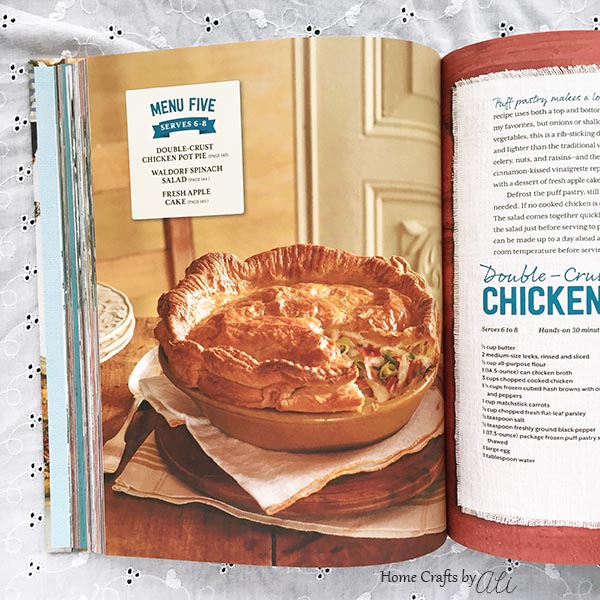 a look at Sunday Suppers Cookbook Chicken Pot Pie Menu Planning