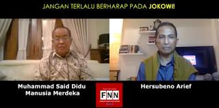 Said Didu Kagum Dengan Mental Jokowi, Inkonsisten Tapi Tidak Merasa Salah