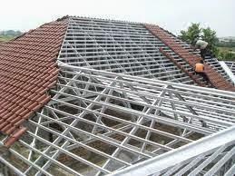 rangka atap baja ringan model limas / bentuk - ...