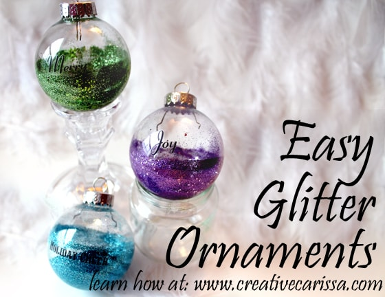 DIY easy Christmas bulbs #creativegreenliving