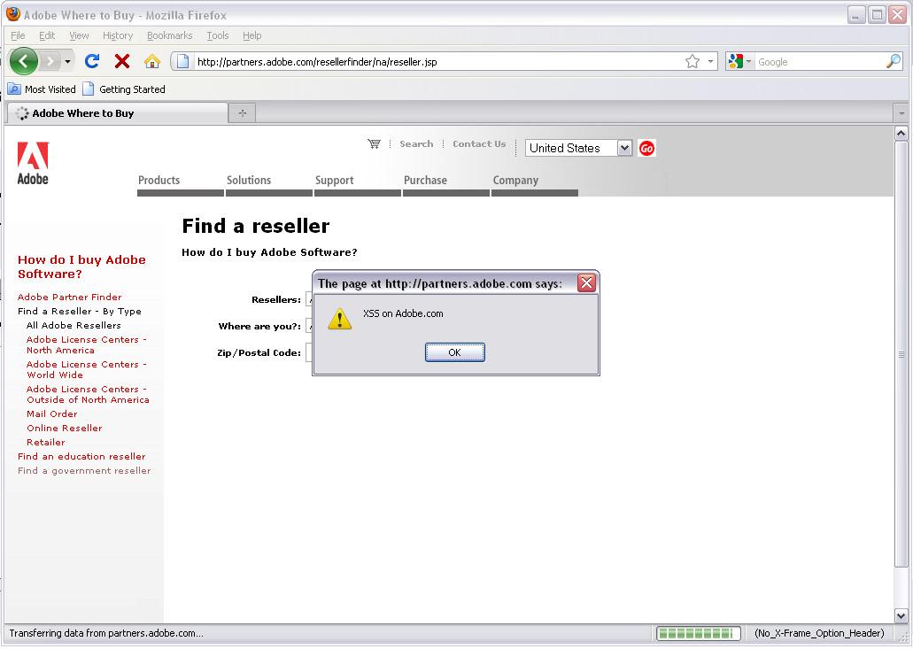 Adobe Website XSS and Open Redirect Vulnerabilities