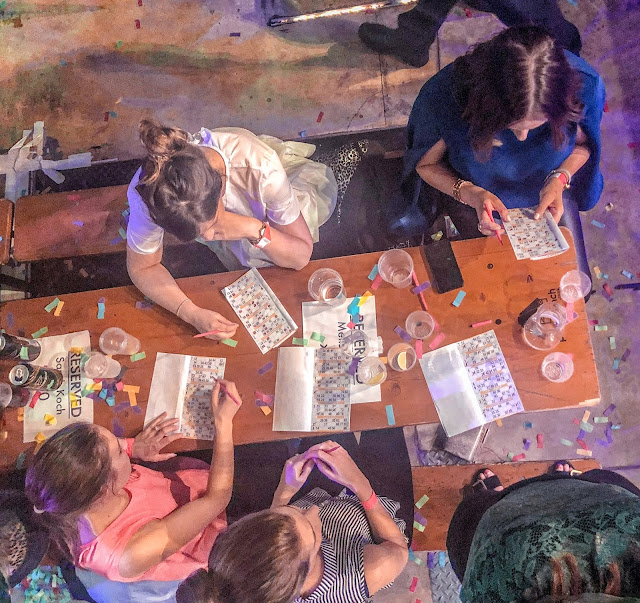 Bongos Bingo Newcastle: aerial view of table
