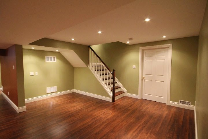 Interior paint colors for basements for Best flooring for basement family room