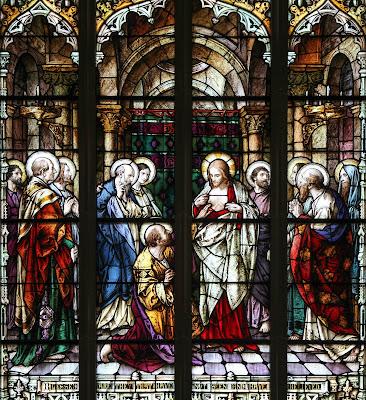 Imagem de Jesus Cristo Ressuscitado e São Tomé, vitral, #2