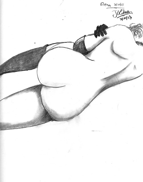 Sketch of E (c)2018 John Linton Roberson