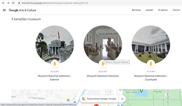 Aku Menjelajahi Museum Nasional Indonesia di Google Arts and Culture