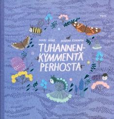 Kirjan kannessa on perhosia.