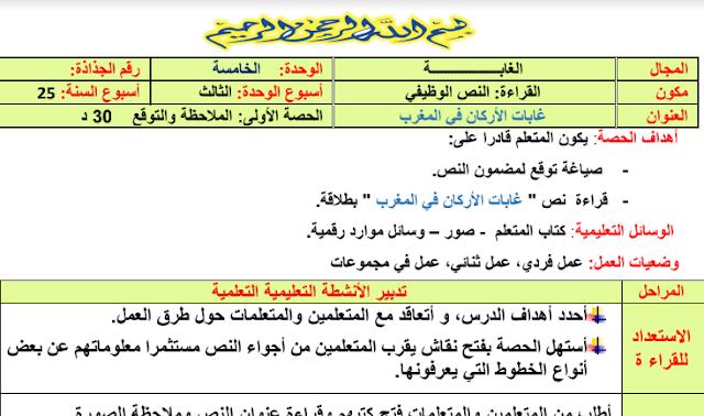 جذاذات الاسبوع الثالث من الوحدة الخامسة مرجع الواضح في اللغة العربية المستوى الرابع ابتدائي محينة 2020