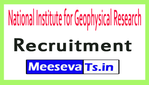 National Institute for Geophysical Research NGRI Recruitment