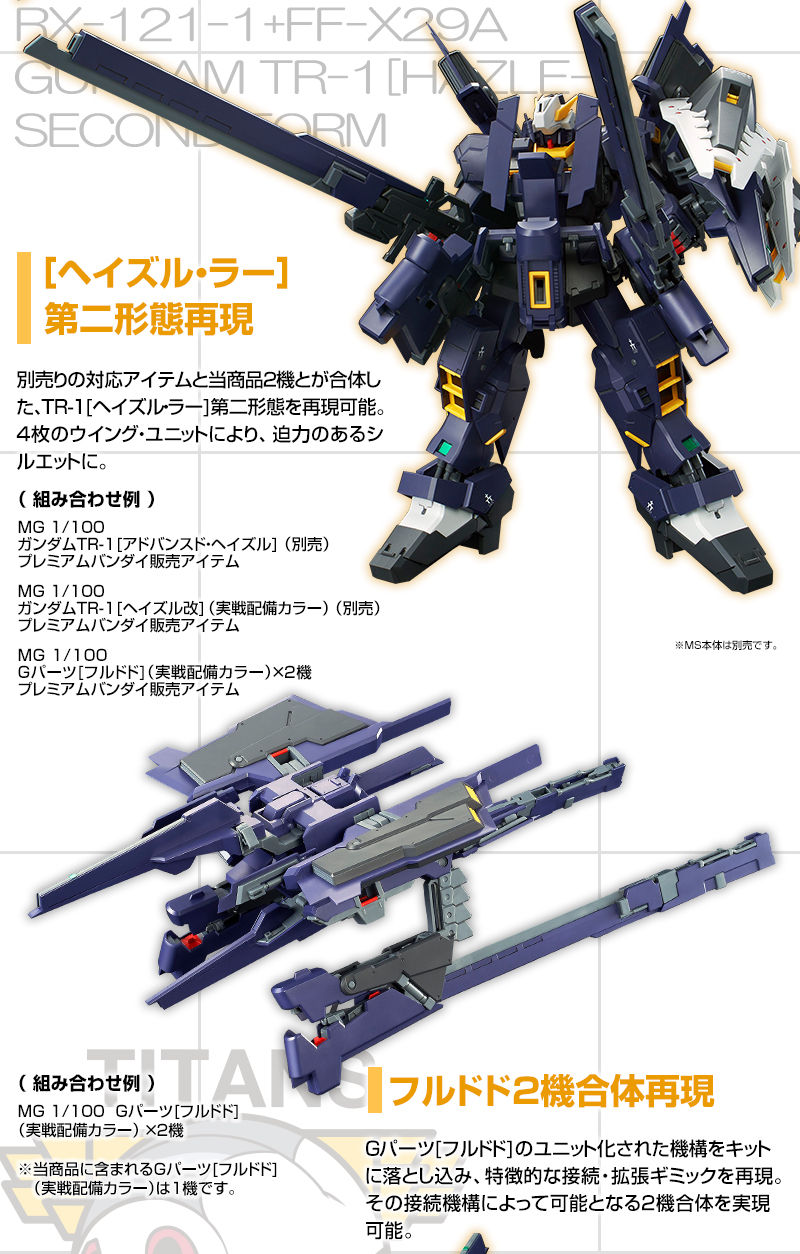 P-Bandai: MG 1/100 G-Parts Hrududu [Combat Deployment Colors]