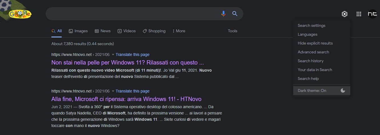 Adesso hai un comodo cursore chiaro/scuro in Ricerca Google