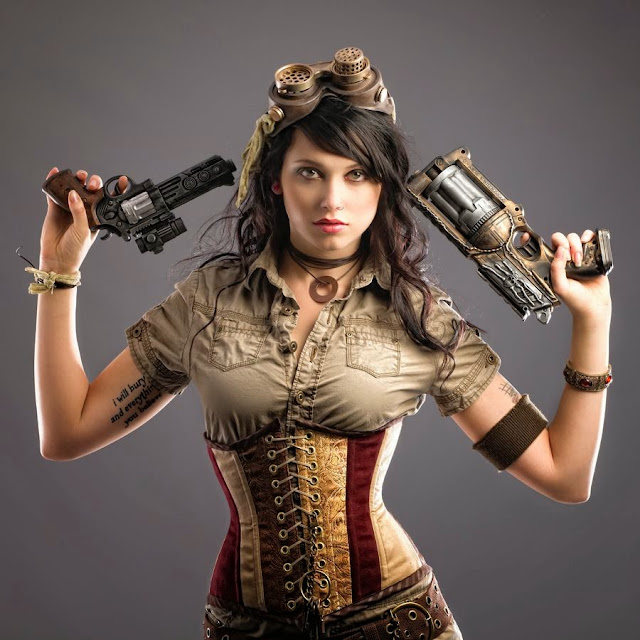 free pics Sexy Steampunk Girls with Guns