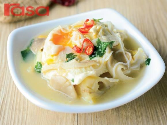 resepi sup telur cendawan