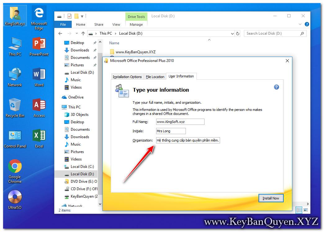 Hướng dẫn cài đặt Office 2010 Pro Plus bản quyền.