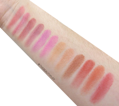 city color blush palette swatches | the beauty puff