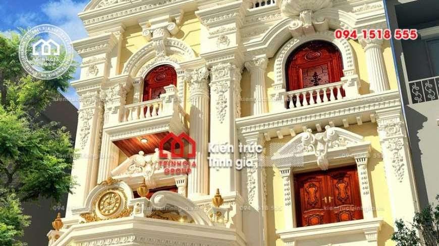 Thiết kế nhà phố 8m mặt tiền phong cách tân cổ điển đẹp nhất - Mã số NP1331 - Ảnh 2