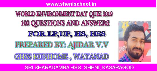 SRI SHARADAMBA HS SHENI: WORLD ENVIRONMENT DAY QUIZ 2019