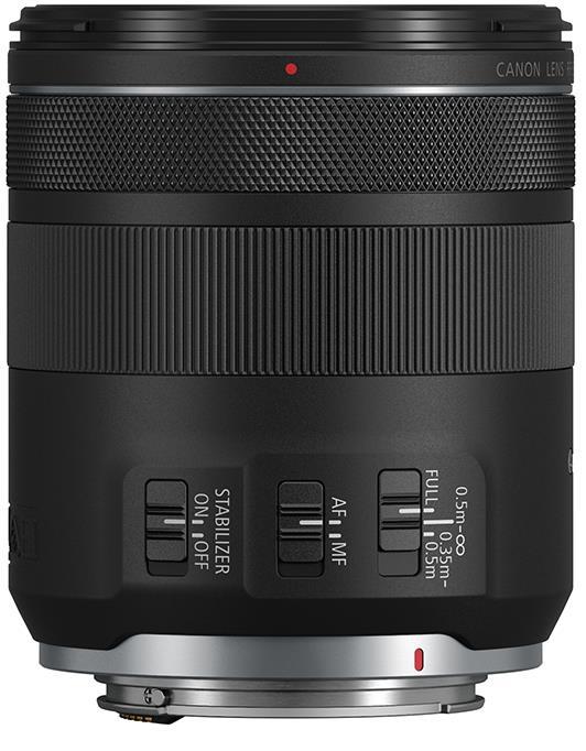 Органы управления объектива Canon RF 85mm f/2 Macro IS STM