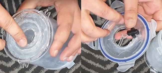 Apply glue for sealing connections