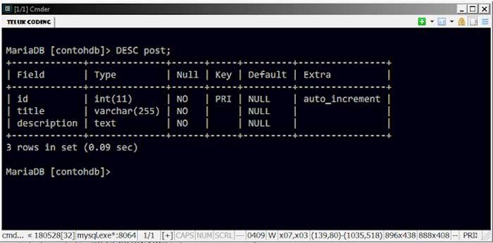 Cara Membuat Tabel di Windows Command Prompt (CMD)