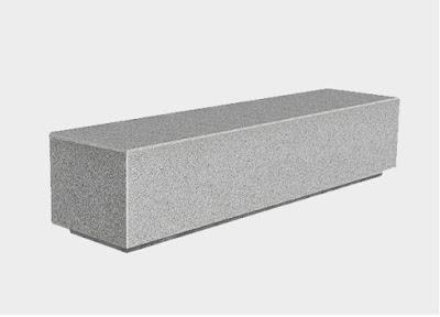 Banco de hormigon gris granito