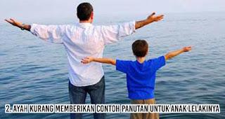 Ayah Kurang memberikan Contoh Panutan Untuk Anak lelakinya