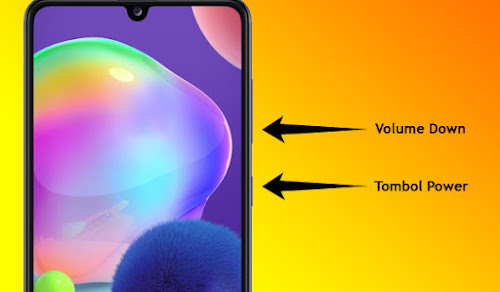 Screenshot Samsung A31 Dengan Tombol
