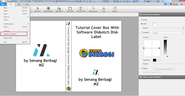 cara register software disketch disk label