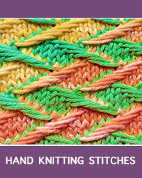 Learn Zig Zag Jacquard Slip Stitch Pattern with our easy to follow instructions at HandKnittingStitches.com