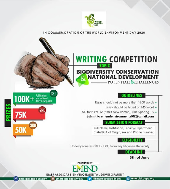 EMEND Essay Writing Competition 2020 | Win Over N200K Prizes