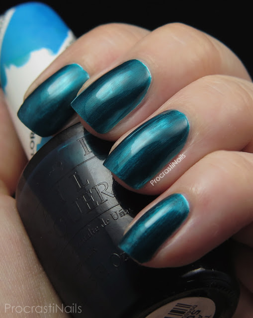 Swatch of OPI Turquoise Aesthetic from the 2015 Color Paints Collection
