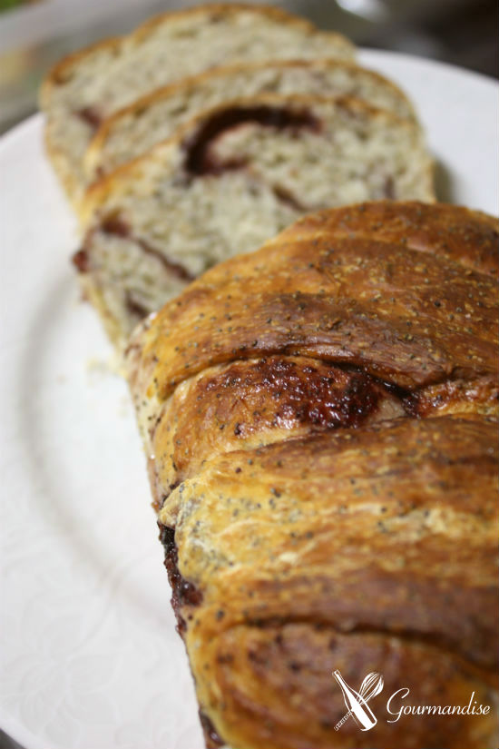 Pão de geleia de mirtilo