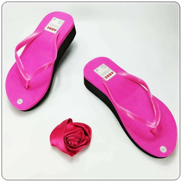 ABBE Cewe Tebal - Wedges Sandal Murah- Pabrik Grosir Sandal Murah Garut