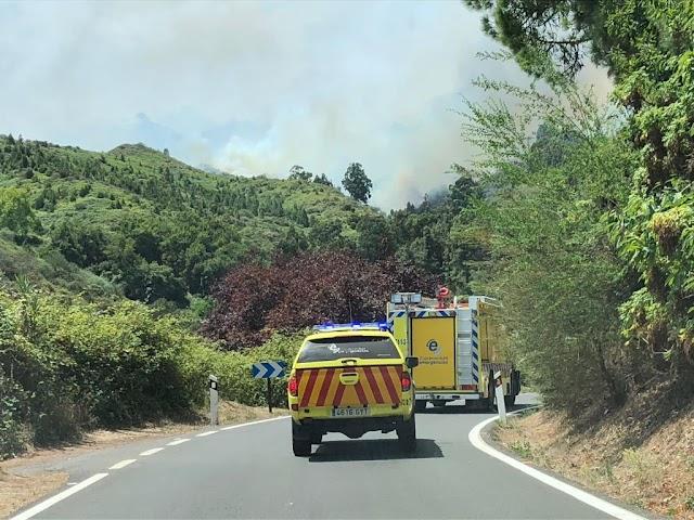 Cabildo de Fuerteventura vuelve  a colaborar con  con la extinción de los nuevos incendios  de Gran Canaria