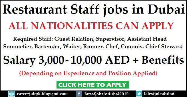 Restaurant Staff jobs in Dubai