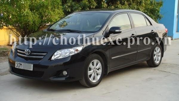 Cho thuê xe 4 chỗ Toyota Altis tại Hà Nội