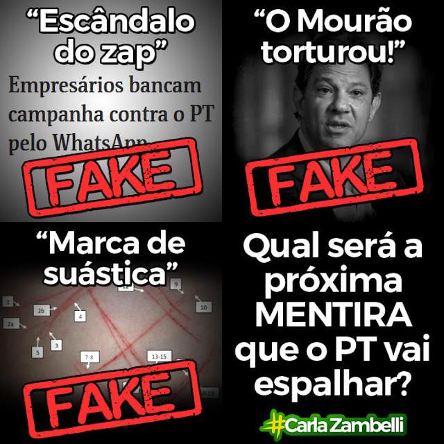 Haddad e seu PT os campeões de fake news das eleições 2018