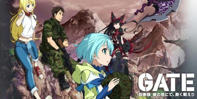 Gate: Jieitai Kanochi nite, Kaku Tatakaeri - Anime Tentang Perang Terbaik dan Terkeren (Dari Jaman Kerajaan sampai Masa Depan)