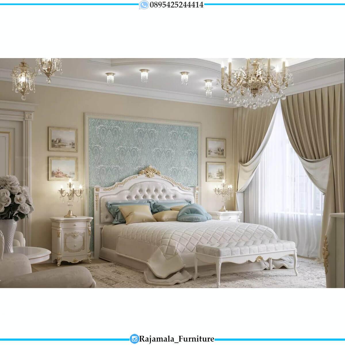 Jual Tempat Tidur Mewah Ukiran Classic Luxury Mebel Jepara RM-0707