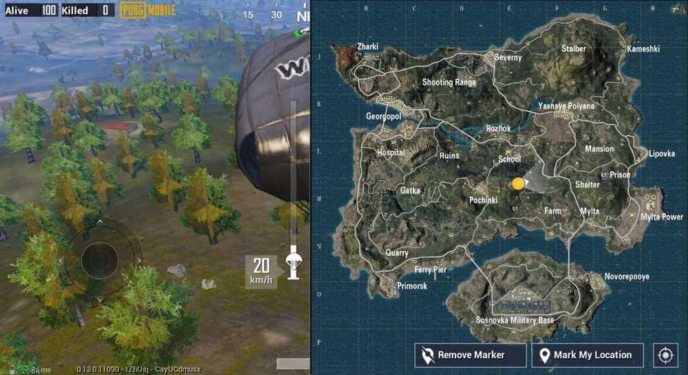 Lokasi Looting di Map Erangel PUBG Mobile (androidcentral.com)