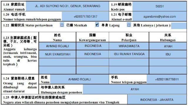 formulir visa china 1.18-1.25