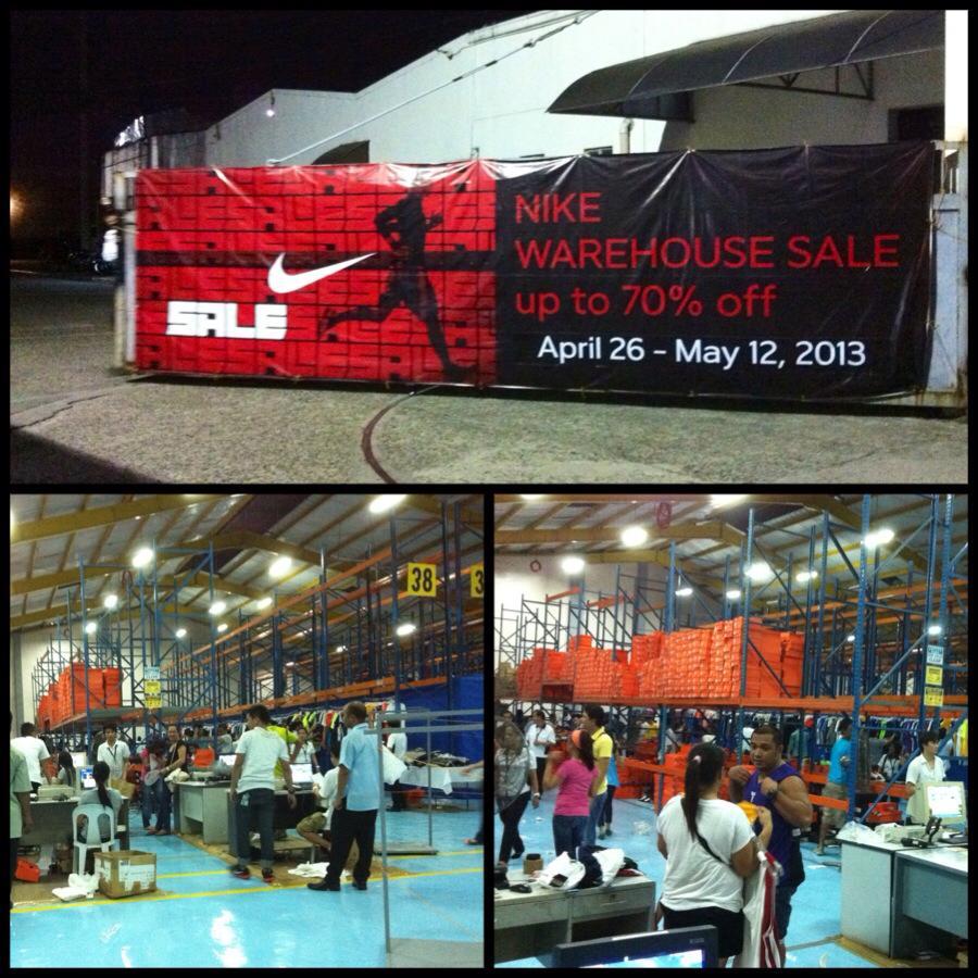 3ad0494750e94e Nike Warehouse Sale April 26 to May 12 2013