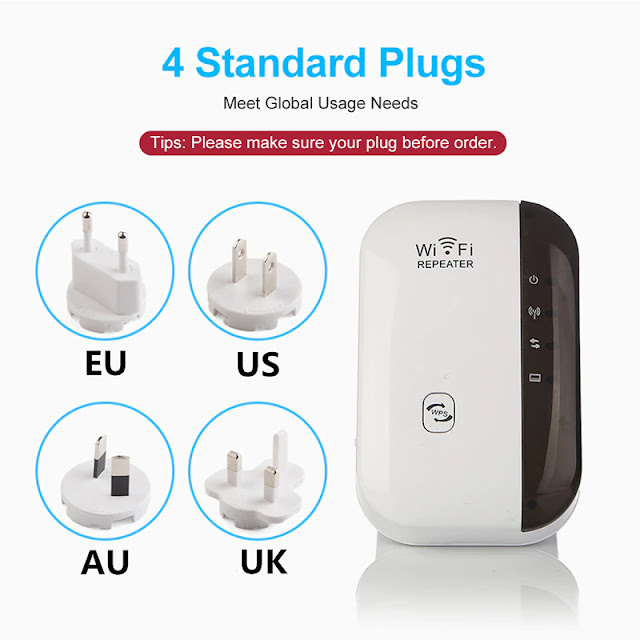 Wireless WiFi Repeater WiFi Extender 300Mbps Router WiFi Signal Amplifier Wi Fi Booster Long Range Wi-Fi Repeater Access Point