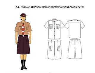 Seragam Standart Pramuka Penggalang Putri