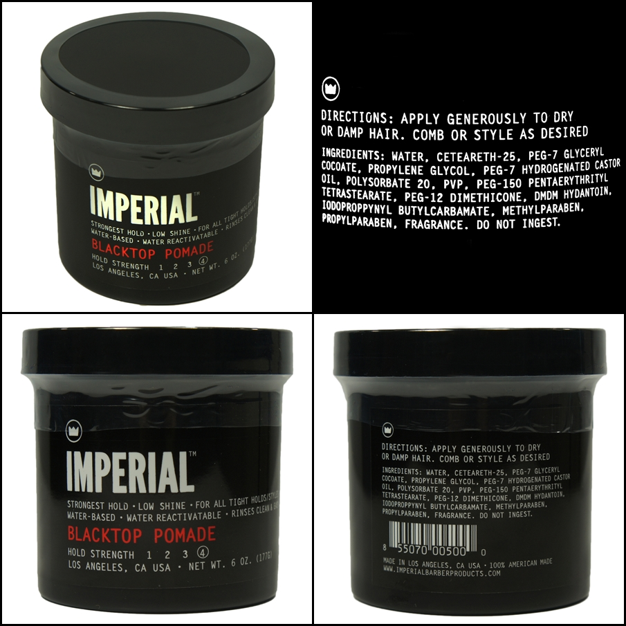 Imperial Pomade Black Top Strong Hold