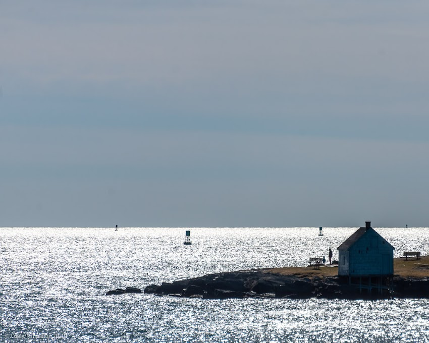 `South Portland, Maine USA March 2020 photo by Corey Templeton. Willard Beach on a bright and sunny early spring day.