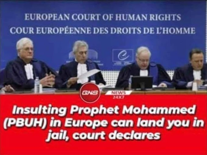 RELIGION : INSULTING PROPHET MUHAMMAD ( PBUH ) IN EUROPE LAND YOU IN JAIL COURT DECLARES